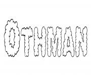 Othman dessin à colorier