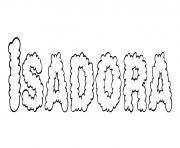 Isadora dessin à colorier