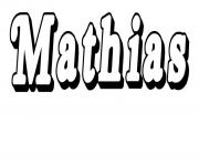 Coloriage Mathias