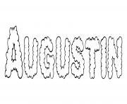 Augustin dessin à colorier