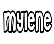 Mylene dessin à colorier