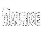 Maurice dessin à colorier