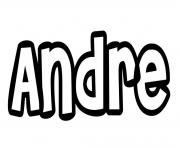 Coloriage Andre