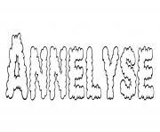 Annelyse dessin à colorier