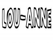 Lou anne dessin à colorier