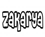 Zakarya dessin à colorier