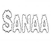 Sanaa dessin à colorier