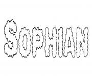 Sophian dessin à colorier