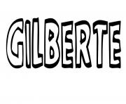 Gilberte dessin à colorier