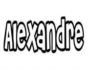 Alexandre dessin à colorier