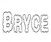 Bryce dessin à colorier