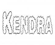 Kendra dessin à colorier
