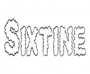 Sixtine dessin à colorier