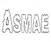Asmae dessin à colorier
