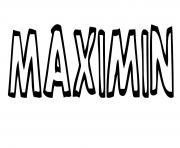 Maximin dessin à colorier