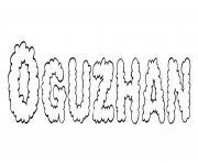 Oguzhan dessin à colorier