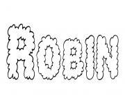 Robin dessin à colorier