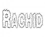 Rachid dessin à colorier
