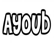 Ayoub dessin à colorier