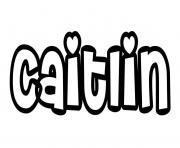 Caitlin dessin à colorier