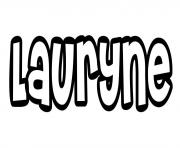 Coloriage Lauryne