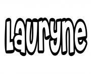 Lauryne dessin à colorier