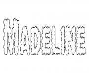 Madeline dessin à colorier