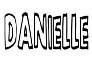 Danielle dessin à colorier