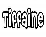 Tiffaine dessin à colorier