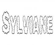 Sylviane dessin à colorier