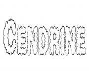 Cendrine dessin à colorier