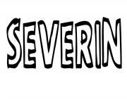 Severin dessin à colorier