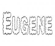 Eugene dessin à colorier