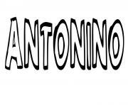 Antonino dessin à colorier