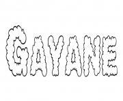 Gayane dessin à colorier