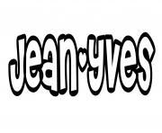 Jean yves dessin à colorier