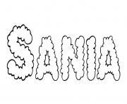 Sania dessin à colorier