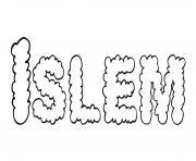 Islem dessin à colorier