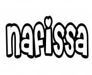 Nafissa dessin à colorier