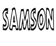 Samson dessin à colorier