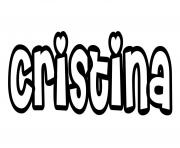 Cristina dessin à colorier