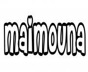 Maimouna dessin à colorier