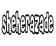 Sheherazade dessin à colorier