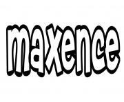 Maxence dessin à colorier