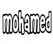 Coloriage Mohamed
