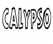 Calypso dessin à colorier