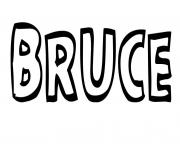 Bruce dessin à colorier