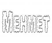 Mehmet dessin à colorier