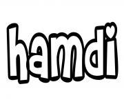 Hamdi dessin à colorier