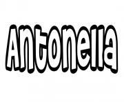 Antonella dessin à colorier